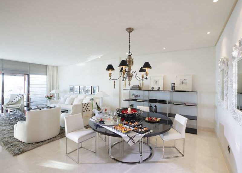 Penthouse luxe Estepona Marbella Immobilier Marbella Salle a manger